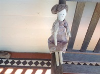 A doll in neutrals to match the cat in brown tones.....same daughter
